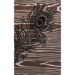 nuLOOM Handmade Moda Peacock New Zealand Wool Rug (7 '6 x 9 '6)
