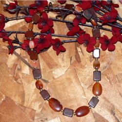 Susen Foster Goldplated &#39;Willing Heart&#39; Carnelian and Jasper Necklace