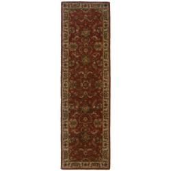 Hand-tufted Red and Ivory Wool Area Rug (2'3 x 8')