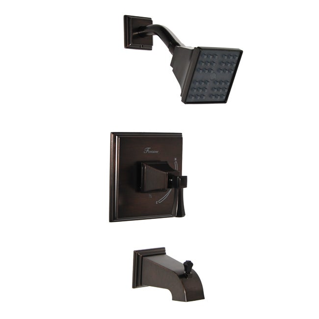 Fontaine Patiglia Brushed Bronze Tub and Shower Faucet Set wtih Valve