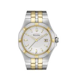 Bulova Men's 'Bracelet' Two-tone Stainless Steel Quartz Watch