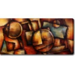 Abstract Modern 'Dark Colors' Giclee Canvas Art