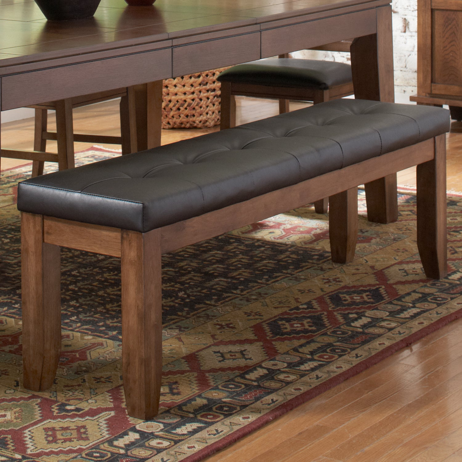 Kai 60-inch Oak/ Dark Brown Bench