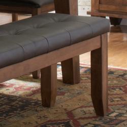 Kai 60-inch Oak/ Dark Brown Bench