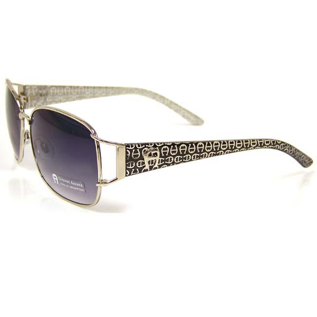 Etienne Aigner 'EA Apropos' Silvertone Sunglasses