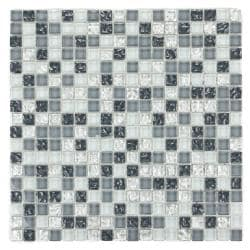 Silver Grey and Blue Sand Mosaic Tiles B-217 (Case of 11)
