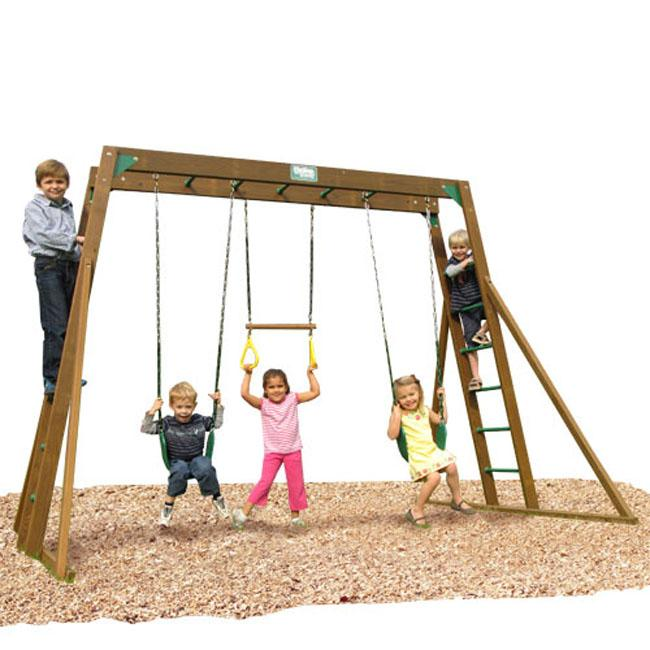 Play Time Classic Series Swing Set Top Ladder with Chain Accessories