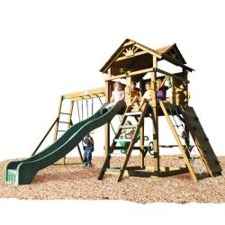 Play Time Stockbridge Series Swing Set Top Ladder with Rope Accessories