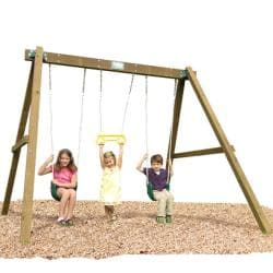 Play Time Classic Series Swing Set with Rope Accessories