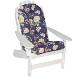 Pia Floral Adirondack All Weather Purple Outdoor Patio