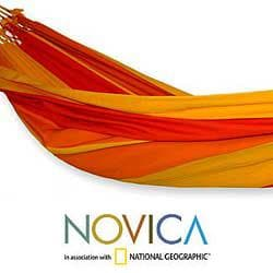 Handcrafted Cotton 'Brazilian Summer' Hammock (Brazil)