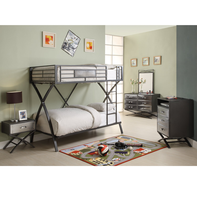 carter 5 piece twin bunk bed bedroom set 13664672