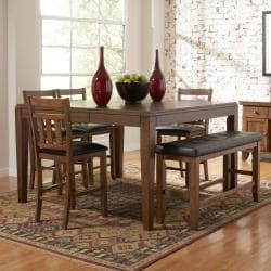 Kai Oak Brown Casual 6-piece Counter Height Dining Set
