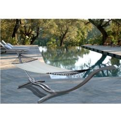 Casimir Outdoor Steel Curve Hammock Stand