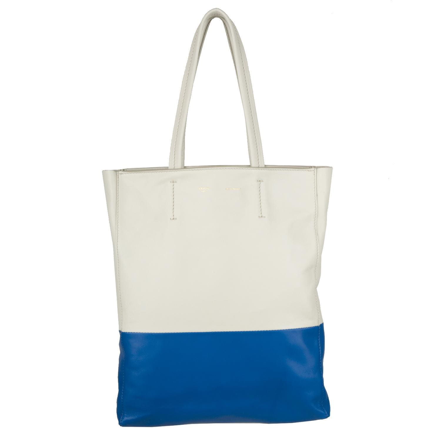 Celine \u0026#39;Bi-Cabas\u0026#39; Small Colorblock Leather Tote Bag - 13666138 ...