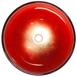 Fontaine Scarlet Fire Glass Vessel Bathroom Sink