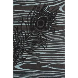 nuLOOM Handmade Moda Peacock New Zealand Wool Rug (5' x 8')