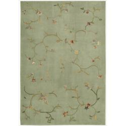 Hand-tufted Green Spring Hill Rug (7'9 x 9'9)