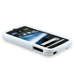 White Rubber Coated Case for Motorola Atrix MB860 4G