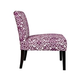 angelo:HOME Bradstreet Modern Damask Provence Purple Upholstered Armless Chair