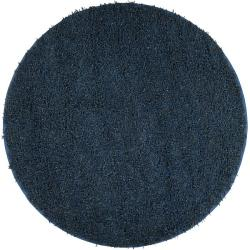 Hand-woven Belhaven Natural Fiber Jute Shag Rug (8&#39; Round)