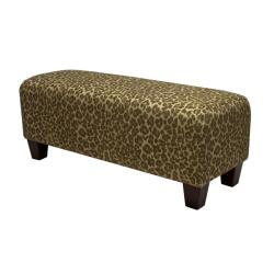 Ethan Sage Green Leopard Bench