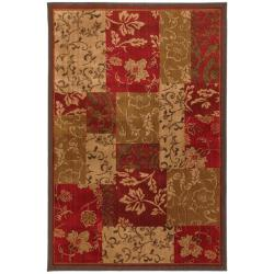 Patchwork Brocade Brown Rug (8' x 11')