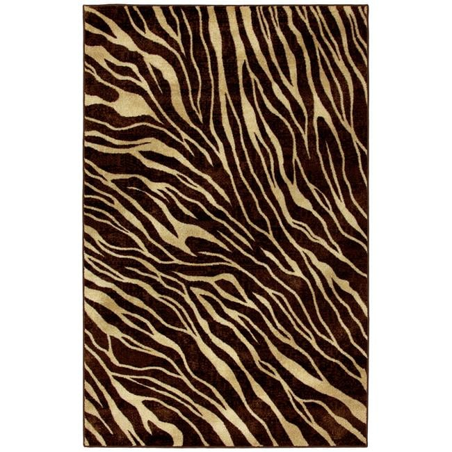 Watamu Beige/ Brown Animal Rug (8' x 10')