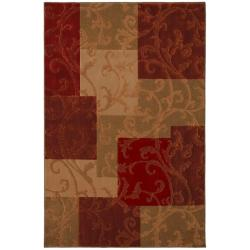 Florentino Beige Floral Rug (8' x 11')