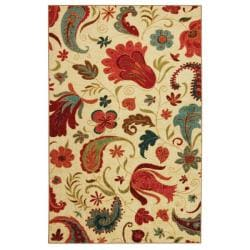 Vibrant Beige Multi Floral Rug (8&#39; x 10&#39;)