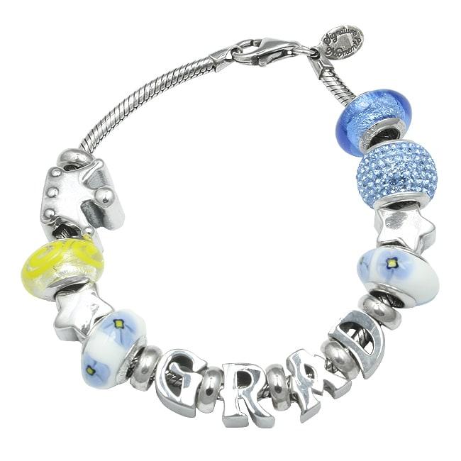 Sterling Essentials Sterling Silver Grad Theme Bracelet