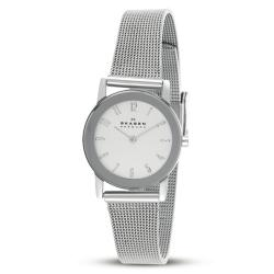 Skagen Women's Stainless Steel Mesh Band Mirrored Bezel Watch