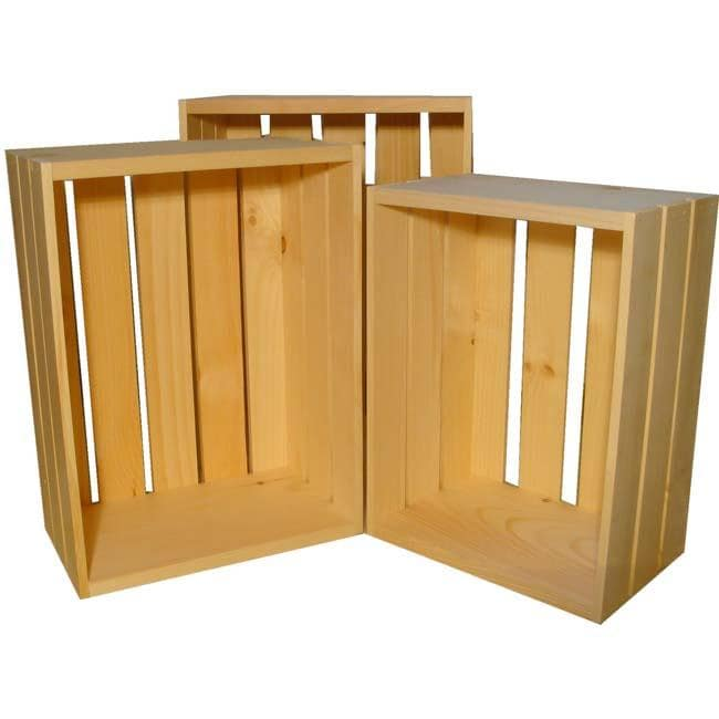 Large Wooden Crate 3-piece Set