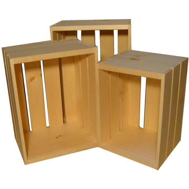 Small Wooden Crate 3-piece Set