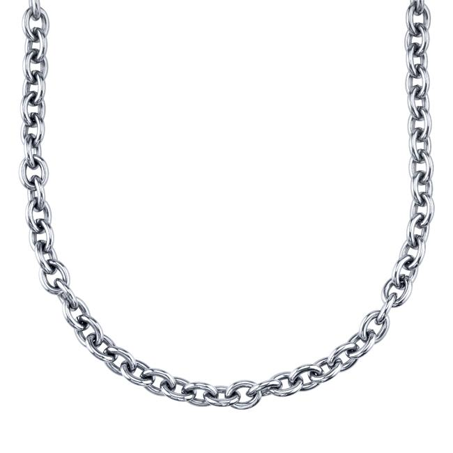 Stainless Steel 24-inch Rolo Link Necklace