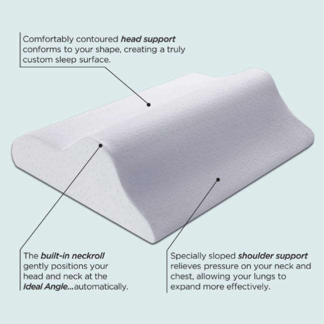 Sleep Innovations Rejuvenation Perfect Sleep Angle Memory Foam Pillow