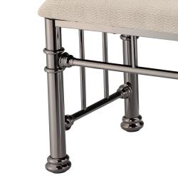 Ashland Black Nickel Bench