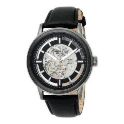 Kenneth Cole Men's Skeleton Dial Automatic Analog Leather Strap Watch