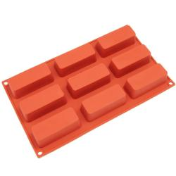 Freshware 9-cavity Narrow Loaf Silicone Mold/ Baking Pans (Pack of 2)