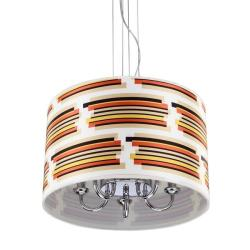 Colorful Shade 5-light Chrome Chandelier