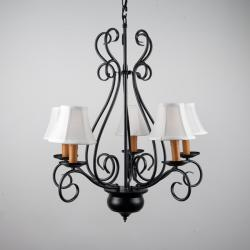 Wrought Iron 5-light Chandelier