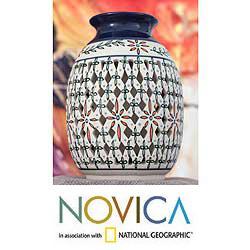 Ceramic 'Golden Constellation' Vase (Mexico)