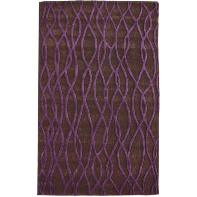 nuLOOM Handmade Moda New Zealand Wool Rug (7'6 x 9'6)