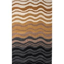 nuLOOM Handmade Moda Waves New Zealand Wool Rug (5' x 8')