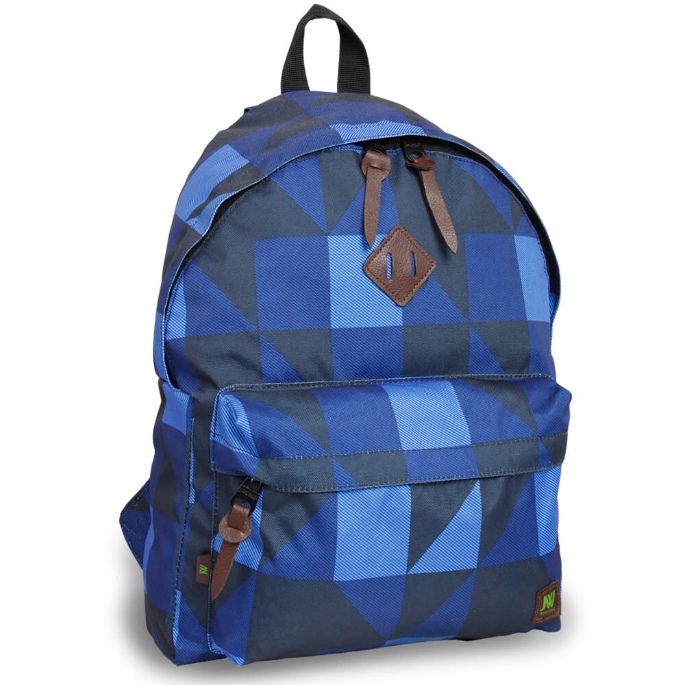 J World 'Kelley' Navy Block 16-inch Mini Day Backpack