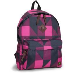 J World 'Kelley' Pink Block 16-inch Mini Day Backpack