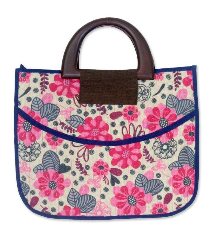 Cotton 'Chiang Mai Bouquet' Large Tote Handbag (Thailand)