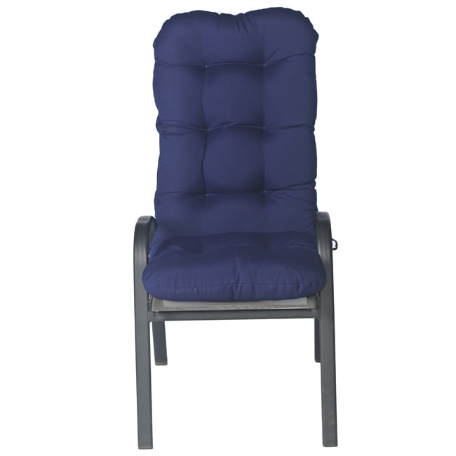 Haylee Outdoor Tufted High back Arm Chair 48 inch