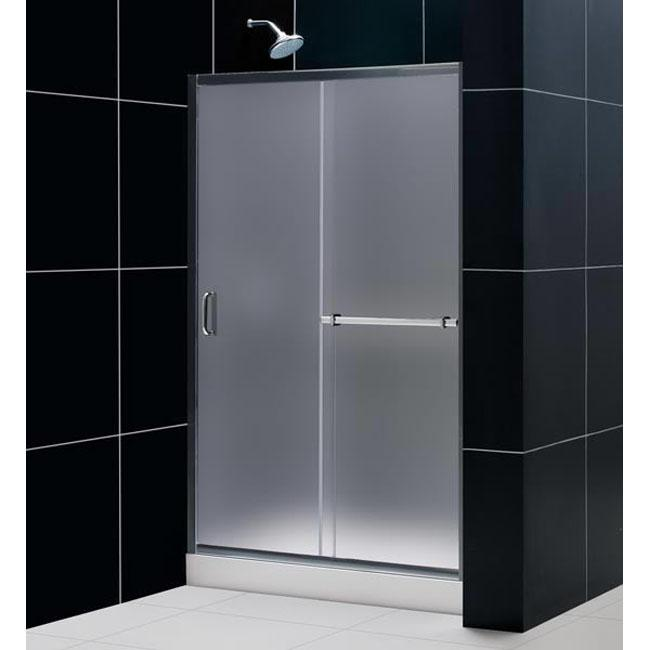 infinity 48 inch frosted glass shower sliding door overstock