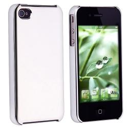 Chrome Silver Rear Slim Case for Apple iPhone 4